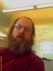 Me, at my desk at work