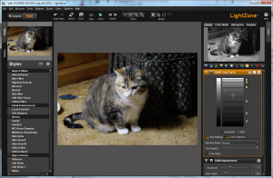LightZone editor screen