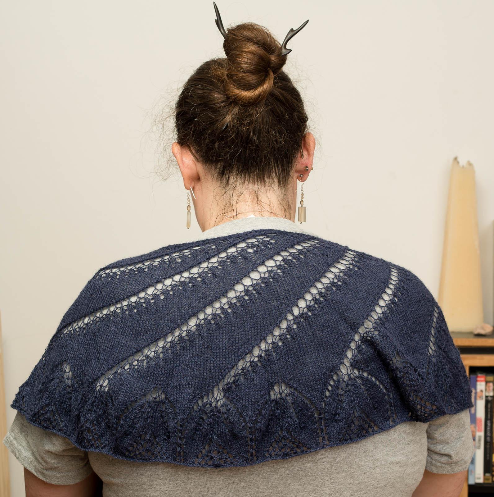 Begonia Shawl from back.